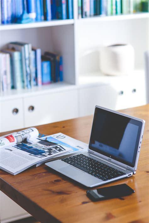 laptop on desk free images laptop desk notebook smartphone working