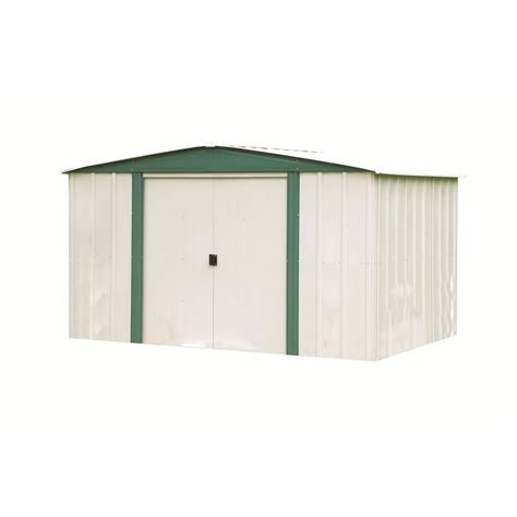 shop arrow galvanized steel storage shed common 8 ft x 6