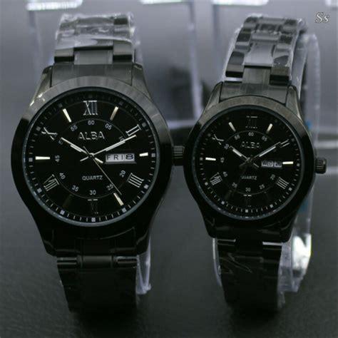 jual jam tangan couple pria  wanita alba rantai tanggal