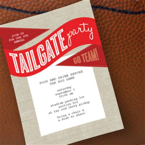 Worthyoftheprize Com Free Tailgate Party Invitation Printable Tailgate Template
