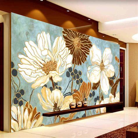 large flower wall murals aliexpress buy vintage 3d wallpaper painting flowers
