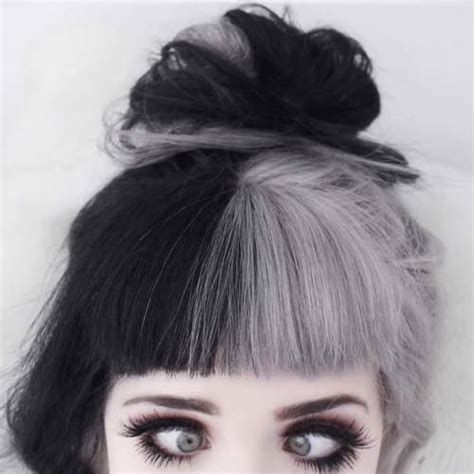 black and white color hairstyles grunge hairstyles tumblr