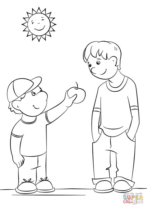 free coloring pages showing kindness showing kindness coloring page free printable coloring