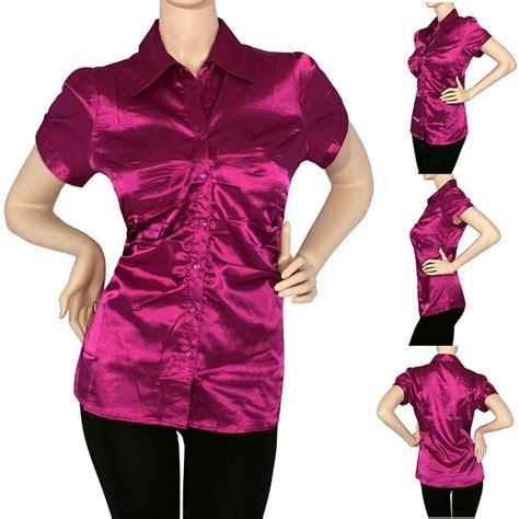 magenta charmeuse blouse chiffon blouse pink
