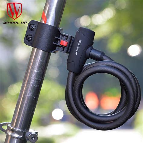 Gembok Untuk Sepeda wheel up gembok sepeda kabel 1 2m black