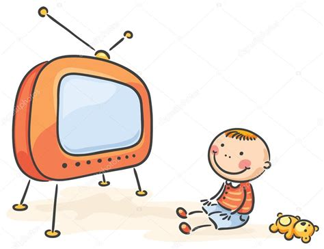 imagenes de niños viendo tv child watching tv isolated stock vector 169 katerina dav