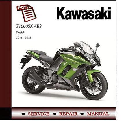 kawasaki z1000sx abs 2011 2013 workshop service manual