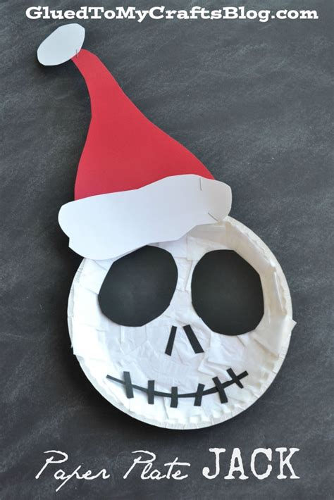 the nightmare before christmas paper plate jack kid craft