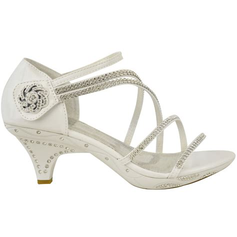 Wedding Shoes Sandals by New Womens Low Heel Bridal Wedding Sandal