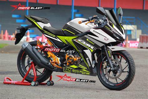 New Cbr150 Racing modifikasi striping honda all new cbr150r 2016 white