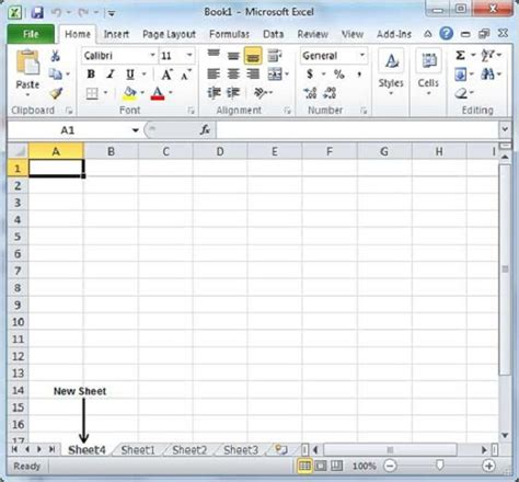 How To Work On Excel Spreadsheet by Create Worksheet In Excel 2010