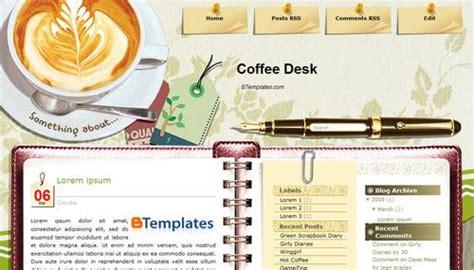 blogg design gratis html koder coffee desk blogger template btemplates