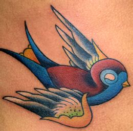 new school sparrow tattoo paradise tattoo gathering