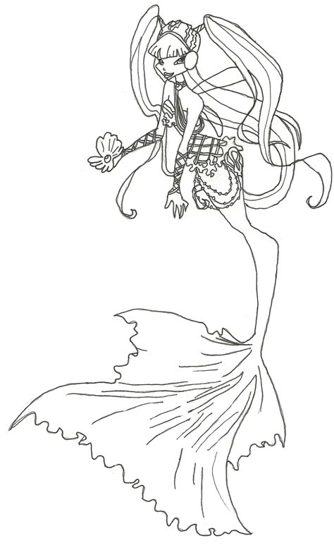 winx club mermaid musa coloring page by winxmagic237 on