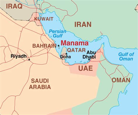 middle east map bahrain in bahrain m2rglobal