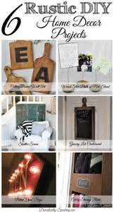 Rustic Diy Home Decor 6 Diy Rustic Home Decor Items Friday Features Domestically Speaking
