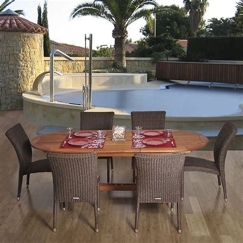 garden oasis harrison 7 dining set outdoor living