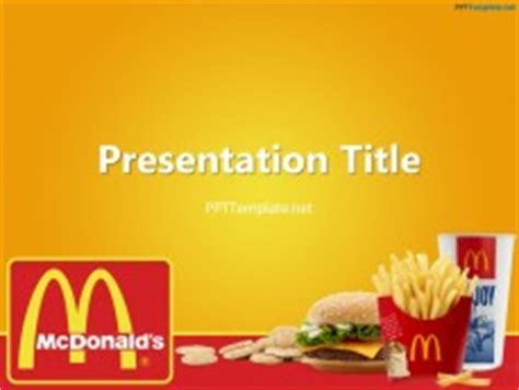 free mcdonald s with logo ppt template