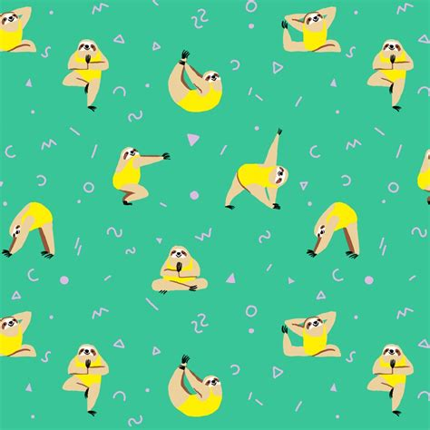 Yoga Sloths Wrapping Paper   HolyCool.net