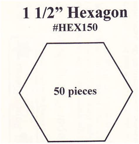 1 5 inch hexagon template 1 5 quot hexagon paper piecing templates pack of 50 ebay