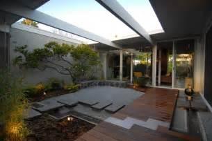 Eichler Style Eichler Atrium Midcentury Landscape San Francisco