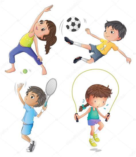 imagenes de niños haciendo jugando dos ni 241 as haciendo ejercicio y dos ni 241 os jugando archivo