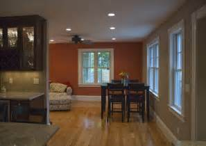accent wall living room simple home decoration