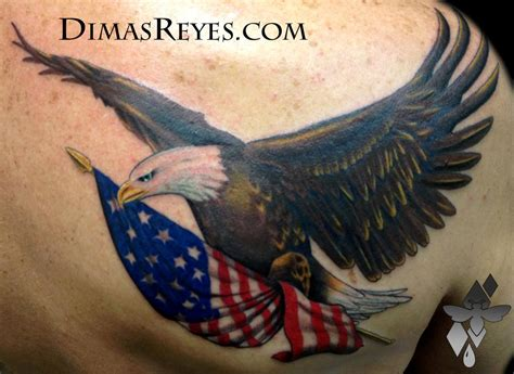american flag eagle tattoo color bald eagle with american flag by dimas reyes