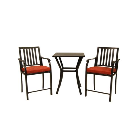 Shop Garden Treasures Hidden River 3 Piece Extruded 3 Patio Dining Set