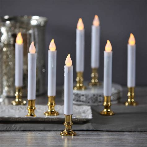 christmas window candles remote lights flameless candles taper candles white 7 quot flameless resin taper candles with
