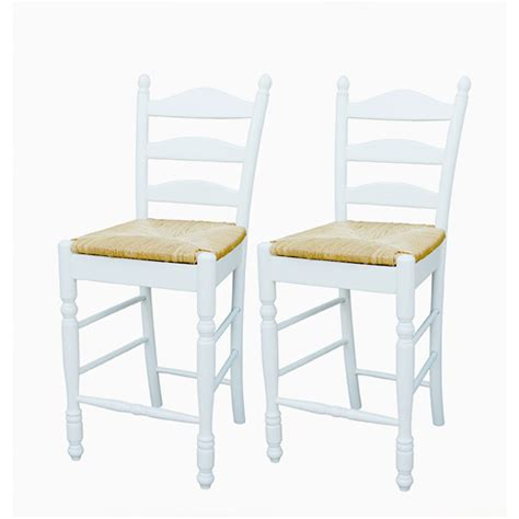 ladder back seat counter stools 24 quot set of 2