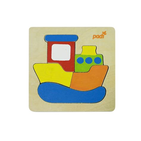Mainan Edukatif Jigsaw Puzzle Kayu Kecil Anak Anjing La 716 1 set padi toys ship fish engine truck riang toys mainan anak mainan