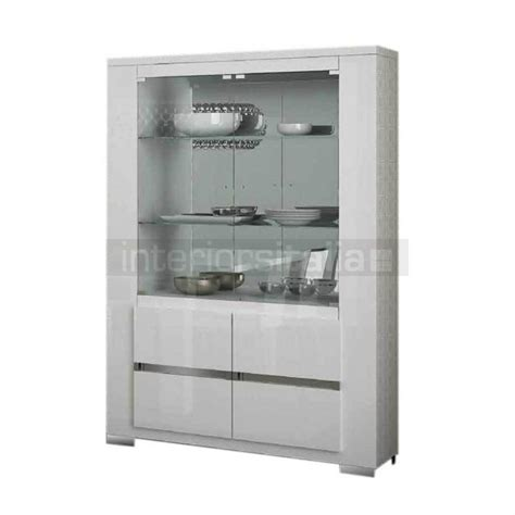 italian display cabinet white gloss elegance sale