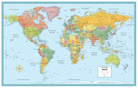 large world map world map poster m series large wall map rand mcnally style ebay
