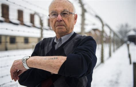 holocaust survivors tattoos auschwitz survivors visit the concentration c a day