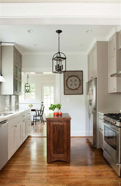 Galley Kitchen With Island by Galley Kitchen Island Kitchen Traditional With Antique