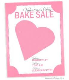 Flyer for bake sale http bakesaleflyers com valentines day flyer