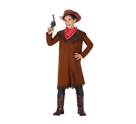 imagenes de niños vestidos de vaqueros disfraz para ni 241 os de vaquero marr 243 n de talla 5 a 6 a 241 os