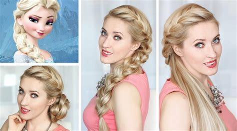 cute hairstyles elsa diy flecht hochsteckfrisuren aus dem kinofilm quot die