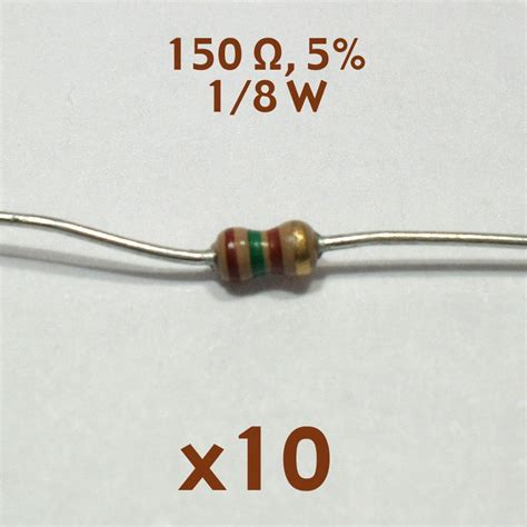 5 ohm resistor 10 watt 150 ohm 5 1 8 watt axial resistor 10 pcs nos