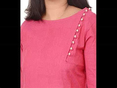 boat neck with potli buttons different types of kurtis design cutting and stitching