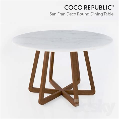 Coco Dining Table 3d Models Table Coco Republic San Fran Deco Dining Table