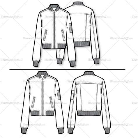 bomber jacket template bomber jacket flat template illustrator stuff
