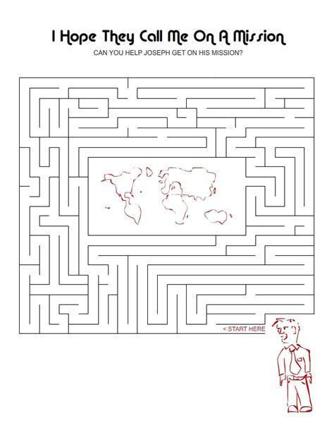 printable lds mazes maze activities my ctr ring