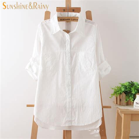 30779 White Cotton Blouse summer fashion white cotton half sleeve blouse shirts summer cool white office