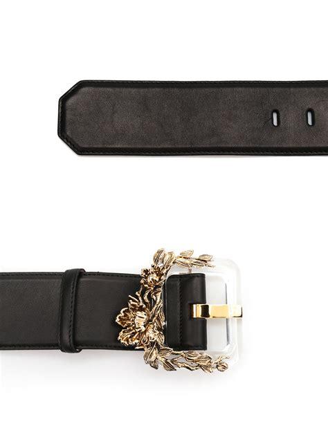 Roberto Cavalli 51130 Leather Semprem plexi blossom leather belt by roberto cavalli belts ikrix