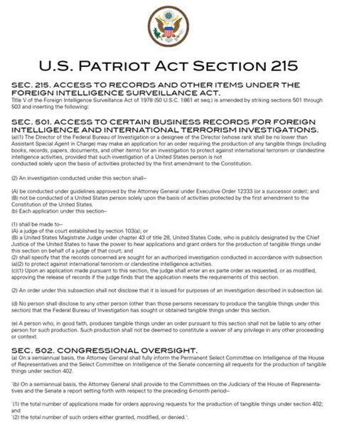 section 215 of the usa patriot act full disclosure nsa s criminal activity puppet masters