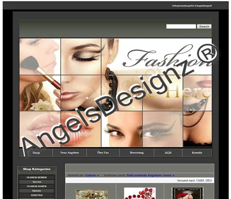 Gambio Design Vorlagen Shop Design Modern Schminke Fashion Angelsdesignz 174