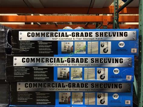 Nsf 6 Tier Commercial Grade Shelf by 100 Costco Rack Shelving Space Saver Saferacks