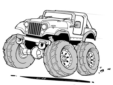 cartoon jeep jeep printable coloring pages